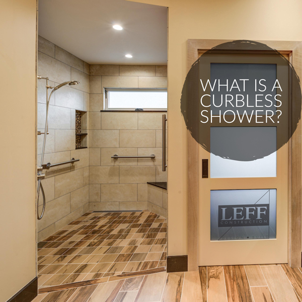 what is a curbless shower image