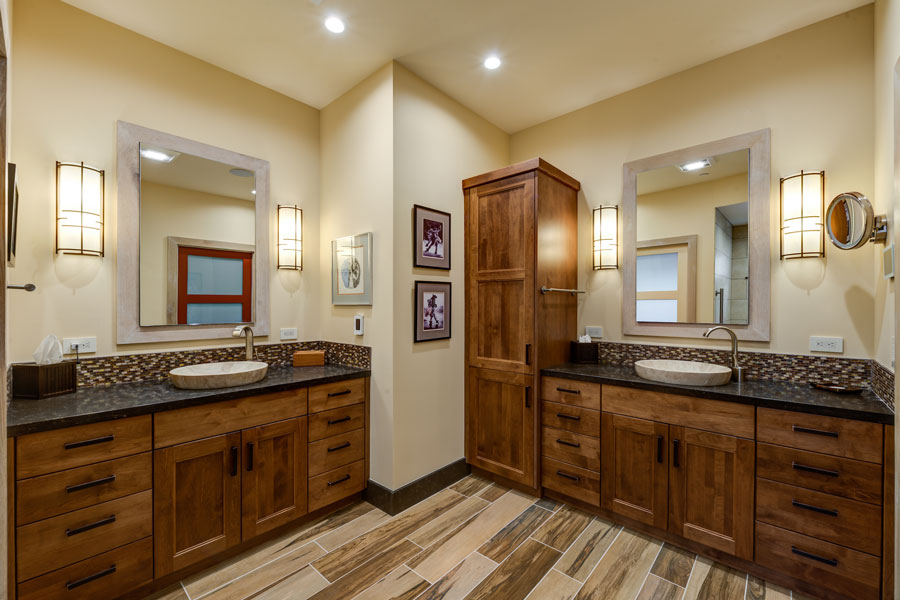 Oakmont Santa Rosa Whole Home Remodel Universal Design Master Bathroom by LEFF Construction Design Build