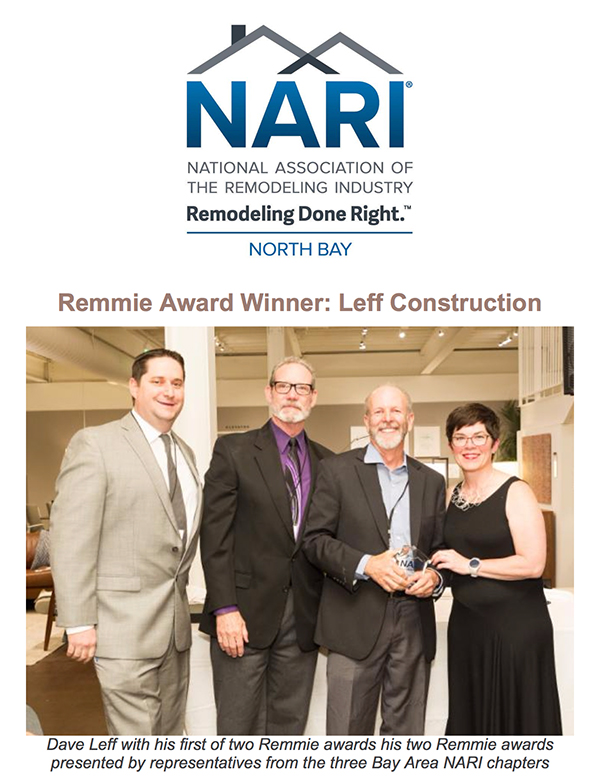 LEFF Construction NARI Award-Winning Design Build company