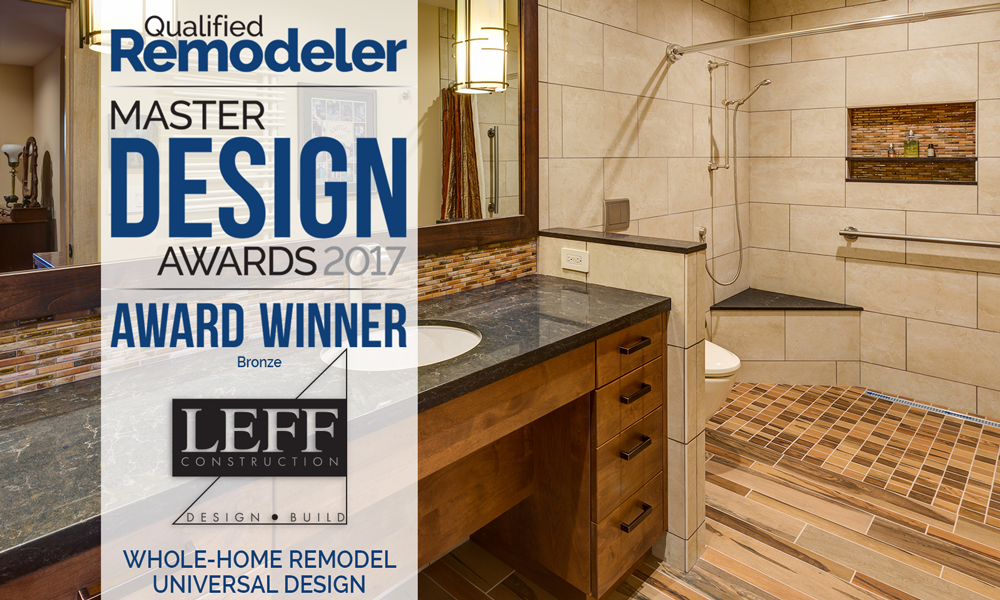 Beautiful LEFF Universal Design bathroom image with Master Design Award logo