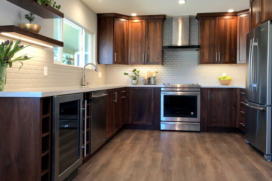 Santa Rosa Vacation home kitchen transformation by LEFF Design Build